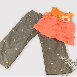 Fun and Bright Colors 2T Toddler Outfit